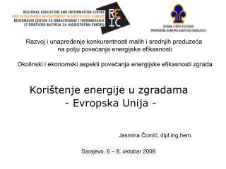 Korištenje energije u zgradama  - Evropska Unija -