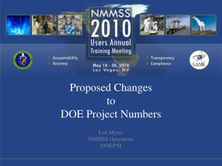 Proposed Changes to DOE Project Numbers