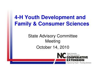 4-H Youth Development and Family & Consumer Sciences