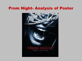 Prom Night- Analysis of Poster