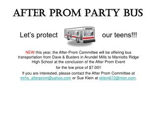 After Prom Party Bus