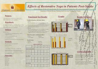 Effects of Restorative Yoga in Patients Post-Stroke