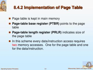 8.4.2 Implementation of Page Table