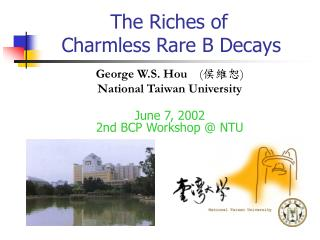 The Riches of      Charmless Rare B Decays