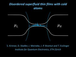 Disordered superfluid thin films with cold atoms