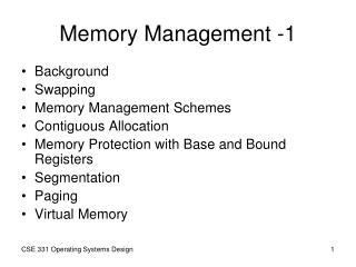 Memory Management  -1