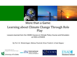 More than a Game: Learning about Climate Change Through Role Play