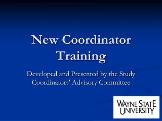 New Coordinator Training