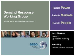Demand Response  Working Group