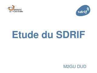Etude du SDRIF