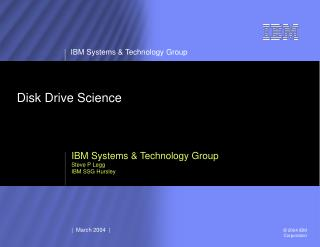 Disk Drive Science