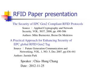 RFID Paper presentation