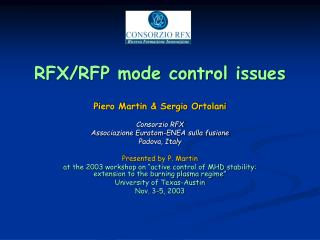 RFX/RFP mode control issues