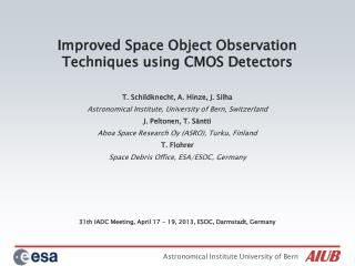 Improved Space Object Observation Techniques using CMOS Detectors