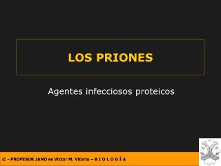 LOS PRIONES