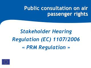 Public consultation on air passenger rights