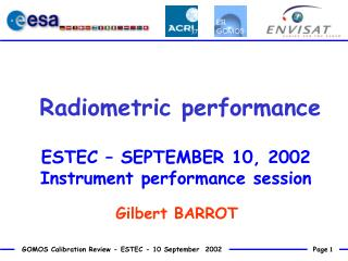 Radiometric performance