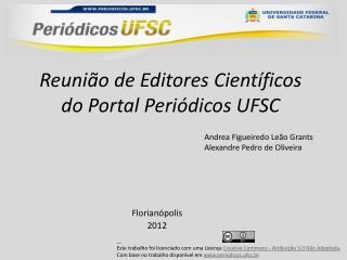 Reunião de Editores Científicos do Portal Periódicos UFSC