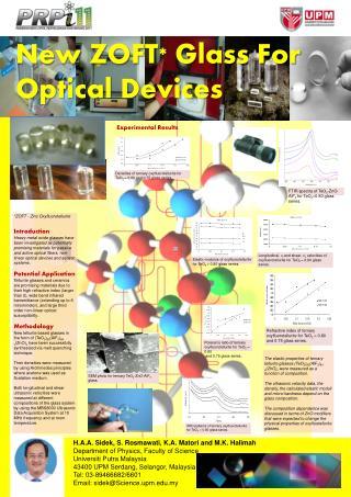 *ZOFT - Zinc  Oxyfluorotellurite Introduction