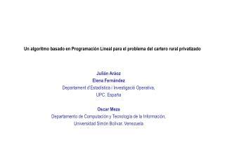 Un algoritmo basado en Programación Lineal para el problema del cartero rural privatizado