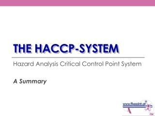 The HACCP-system