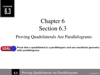 Chapter 6 Section 6.3