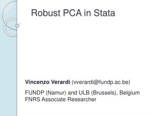 Robust PCA in Stata