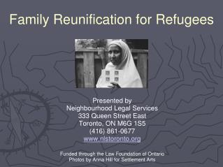 Family Reunification for Refugees