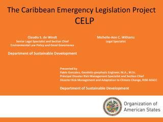 The Caribbean Emergency Legislation Project  CELP