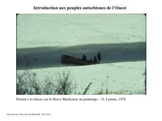 Introduction aux peuples autochtones de l'Ouest