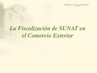 La Fiscalizaci�n de SUNAT en el Comercio Exterior