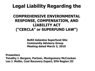 Legal Liability Regarding the