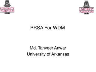 PRSA For WDM