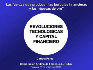 Corporación Andina de Fomento -EUREKA Caracas ,  23 de octubre de 2002