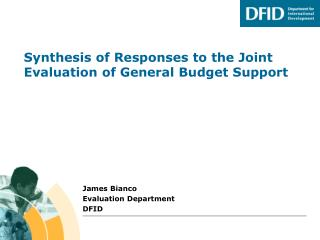 Synthesis of Responses to the Joint Evaluation of General Budget Support