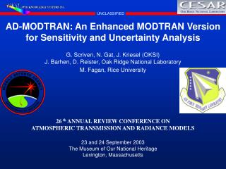 AD-MODTRAN: An Enhanced MODTRAN Version for Sensitivity and Uncertainty Analysis