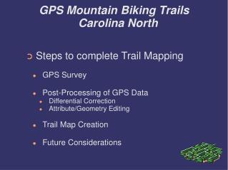GPS Mountain Biking Trails Carolina North
