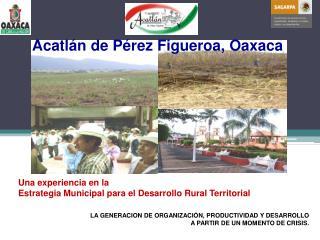 Una experiencia en la   Estrategia Municipal para el Desarrollo Rural Territorial