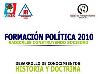 FORMACIÓN POLÍTICA 2010