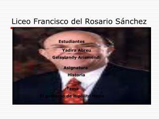 Liceo Francisco del Rosario Sánchez