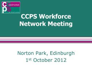 CCPS Workforce Network Meeting