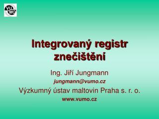 Integrovaný registr znečištění