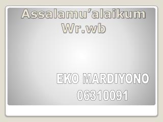 Assalamu�alaikum Wr.wb