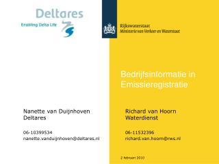 Bedrijfsinformatie in Emissieregistratie