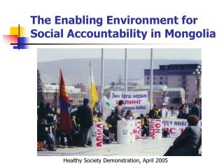 The Enabling Environment for Social Accountability in Mongolia