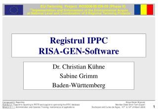 Registrul IPPC RISA-GEN-Software