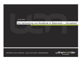 """Die Verbreitung von Rundfunk in Österreich – """"Fernsehen"""""""