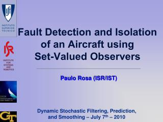 Fault Detection and Isolation of an Aircraft using Set-Valued Observers