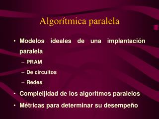 Algorítmica paralela