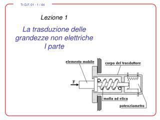 Lezione 1 La trasduzione delle grandezze non elettriche I parte